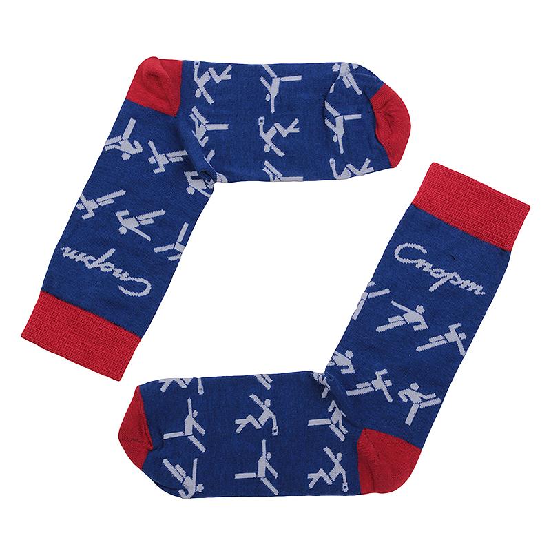 мужские синие.  носки запорожец heritage спорт человечки Спорт-человечки-син - цена, описание, фото 1
