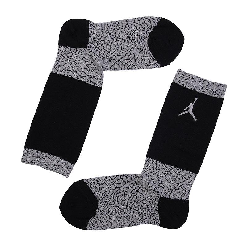 Носки Jordan Elephant Print CrewНоски<br>хлопок, нейлон, эластан.<br><br>Цвет: чёрный, серый.<br>Размеры US: M;L;XL<br>Пол: Мужской