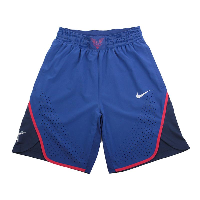 Шорты Nike VAPOR USAB REP SHORTШорты<br>84% полиэстер, 16% эластан<br><br>Цвет: Синий, красный<br>Размеры US: S;M;L;XL<br>Пол: Мужской