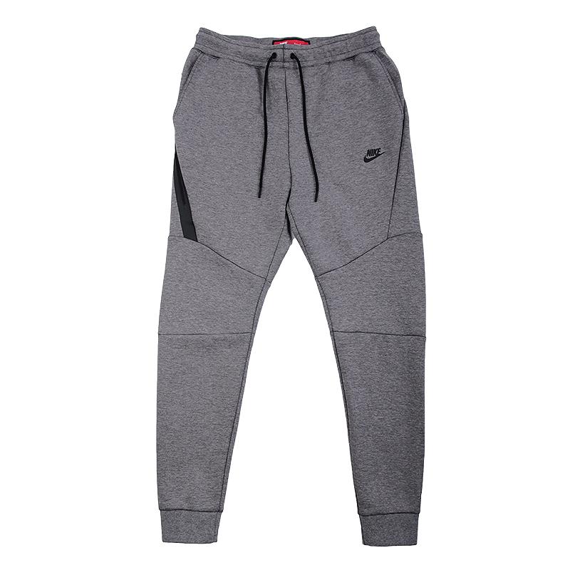 Брюки Nike Sportswear M NSW TCH FLC JGGRБрюки и джинсы<br>66% хлопок, 34% полиэстер<br><br>Цвет: Серый<br>Размеры US: XL<br>Пол: Мужской