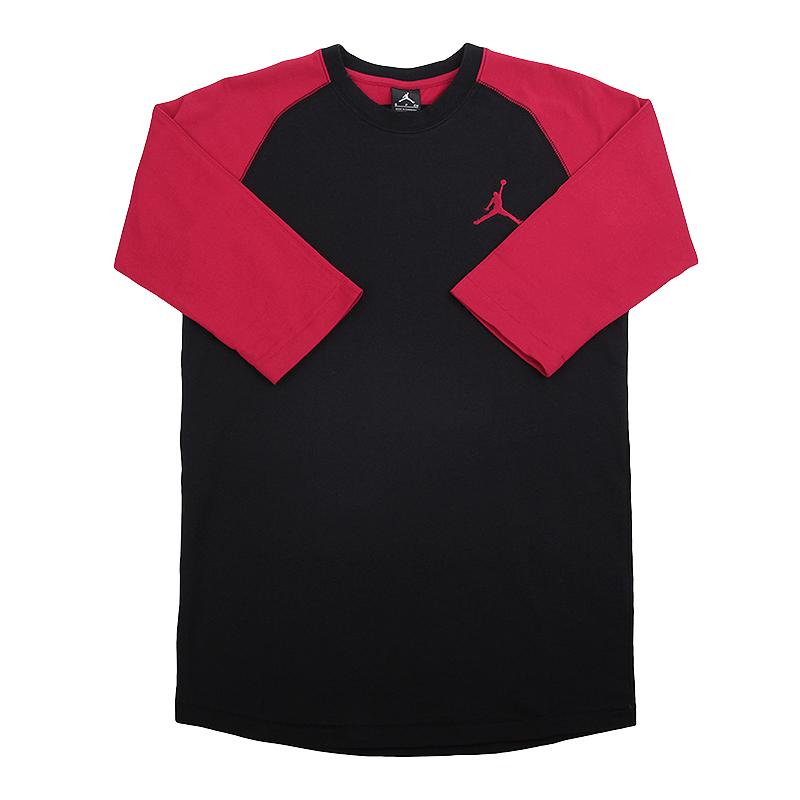 Футболка Jordan 23 True 3/4 RaglanФутболки<br>100% хлопок<br><br>Цвет: Красный, черный<br>Размеры US: S;2XL<br>Пол: Мужской