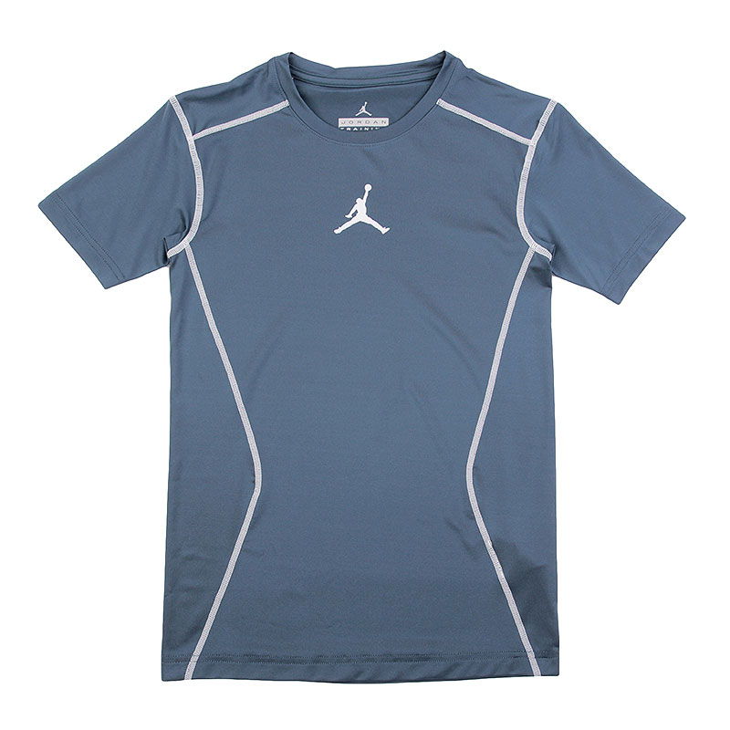 Футболка Jordan 23 Pro Dry Comp SS TopКомпрессионное белье<br>полиэстер, эластан.<br><br>Цвет: синий.<br>Размеры US: 2XL<br>Пол: Мужской
