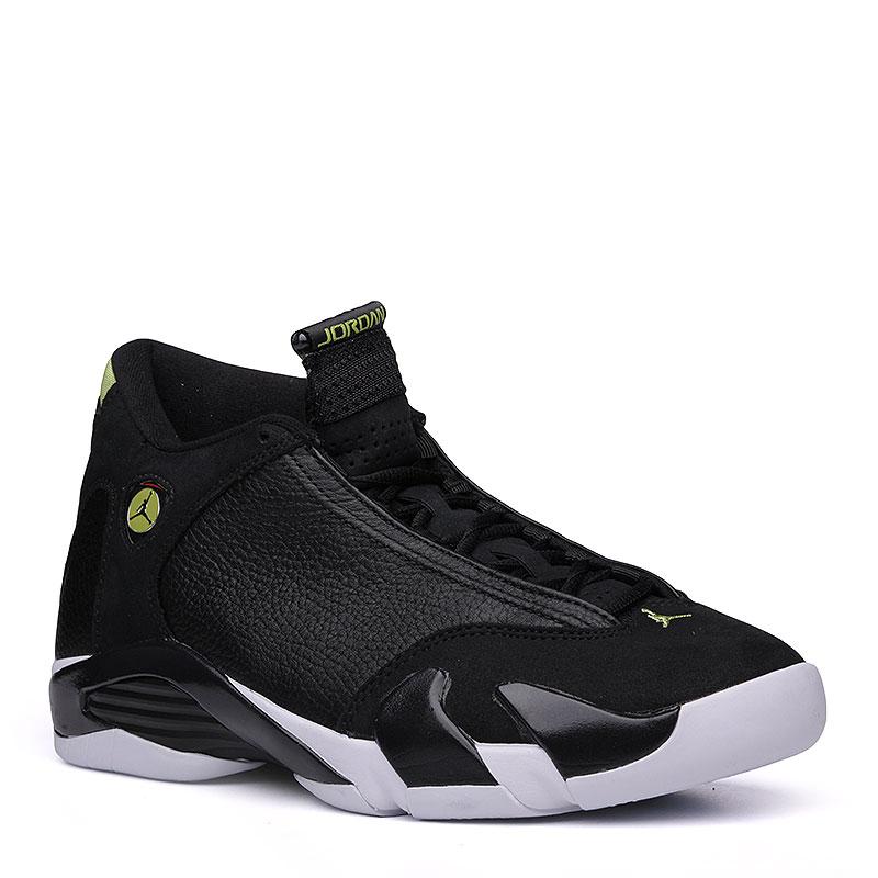 Кроссовки Air Jordan XIV RetroКроссовки баскетбольные<br>кожа, синтетика, текстиль, резина.<br><br>Цвет: чёрный.<br>Размеры US: 7.5;8<br>Пол: Мужской