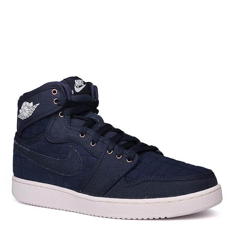 Кроссовки Air Jordan 1 KO High OGКроссовки lifestyle<br>текстиль, резина.<br><br>Цвет: синий, белый.<br>Размеры US: 7;7.5;8;8.5;9;9.5;10;10.5;11;11.5;12;12.5<br>Пол: Мужской