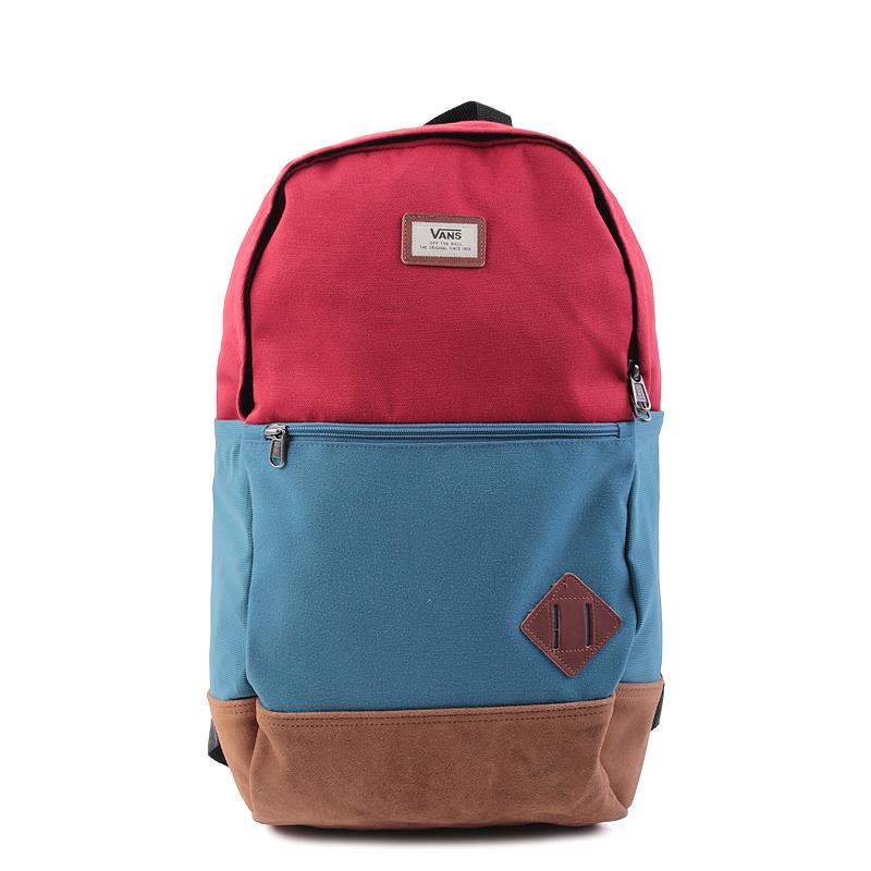 Рюкзак Vans Doren IIIСумки, рюкзаки<br>полиэстер<br><br>Цвет: Красный,синий<br>Размеры US: OS