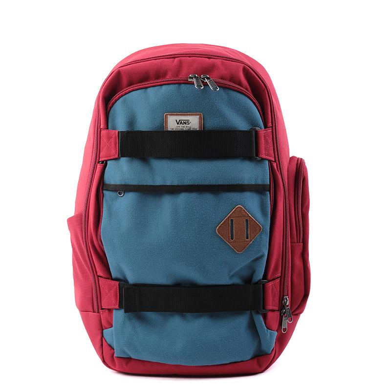 Рюкзак Vans Transient III Sk8PСумки, рюкзаки<br>полиэстер<br><br>Цвет: Красный,синий<br>Размеры US: OS