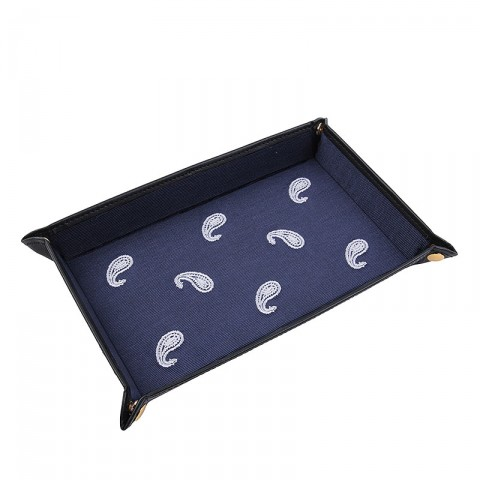 Paisley Accessory Tray Black Scale