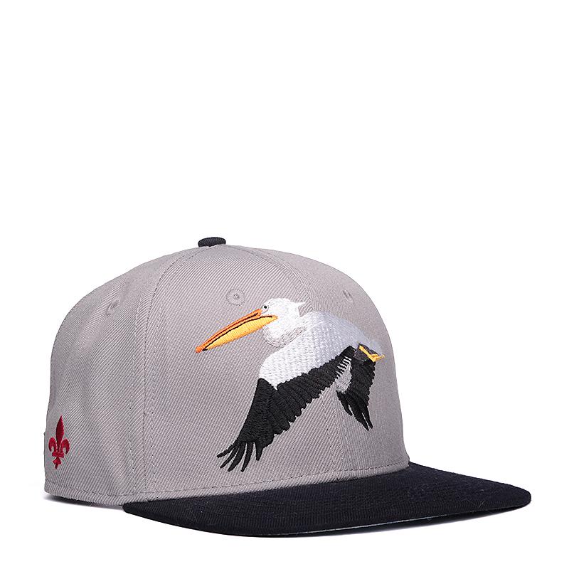 Кепка K1X Pelican Strapback CapКепки<br>хлопок<br><br>Цвет: Серый<br>Размеры US: one<br>Пол: Мужской