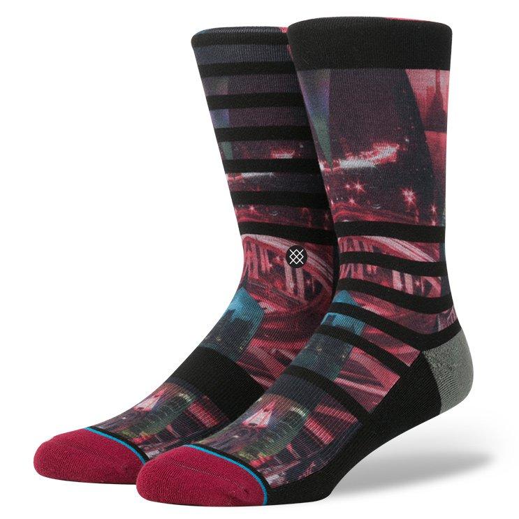 мужские чёрные, бордовые.  носки  night out M545B16NIG - цена, описание, фото 1