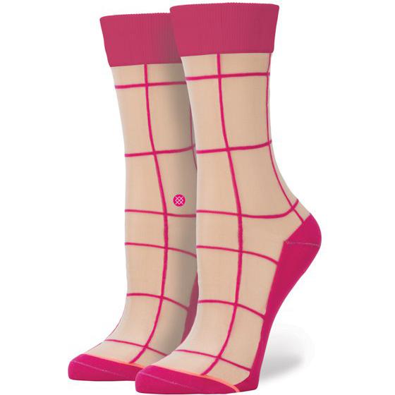 Носки Stance RetroНоски<br>нейлон, эластан.<br><br>Цвет: розовый.<br>Размеры : M<br>Пол: Женский