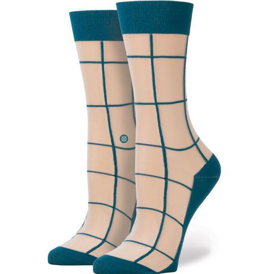 Носки Stance RetroНоски<br>нейлон, эластан.<br><br>Цвет: синий.<br>Размеры : M<br>Пол: Женский