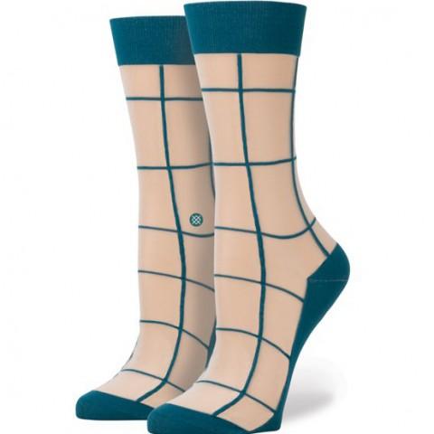 женские синие.  носки stance retro W515B16RET-teal - цена, описание, фото 1