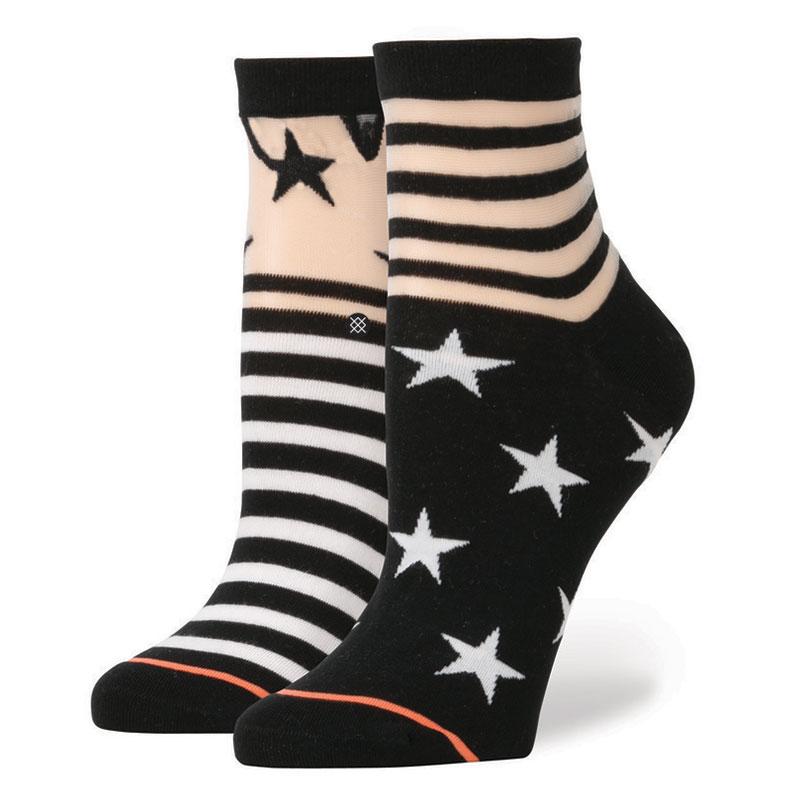 Носки Stance Gothic StarНоски<br>нейлон, эластан.<br><br>Цвет: чёрный, белый.<br>Размеры : M<br>Пол: Женский