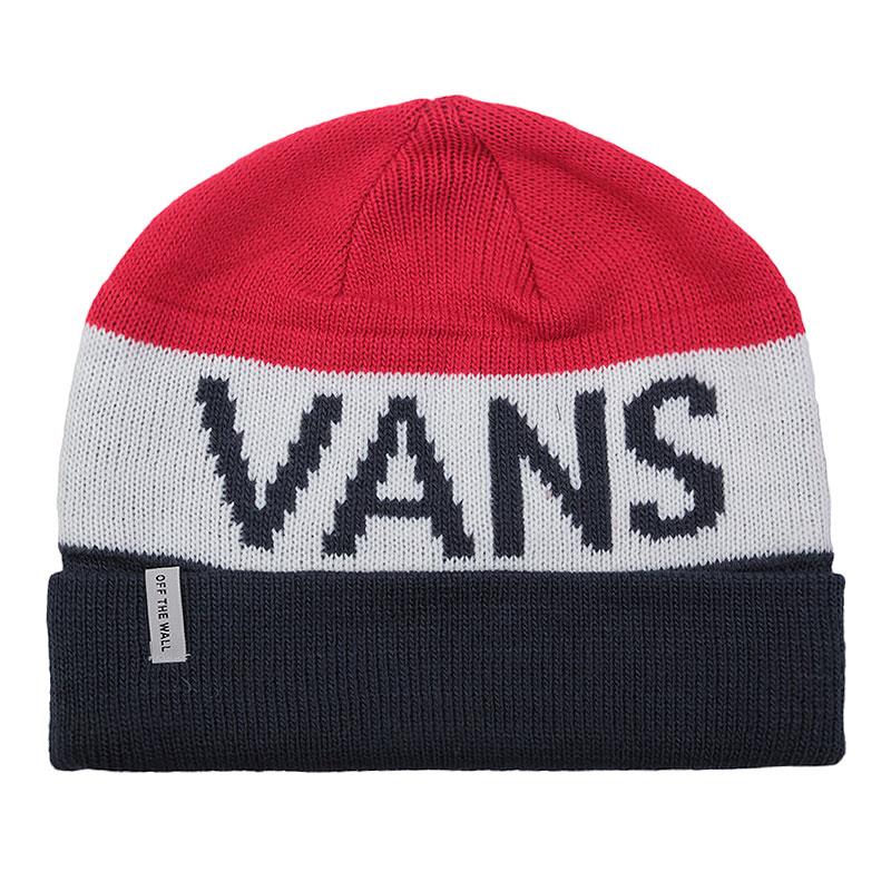 Шапка Vans Stitch BeanieШапки<br>акрил.<br><br>Цвет: красный, белый, синий.<br>Размеры US: OS