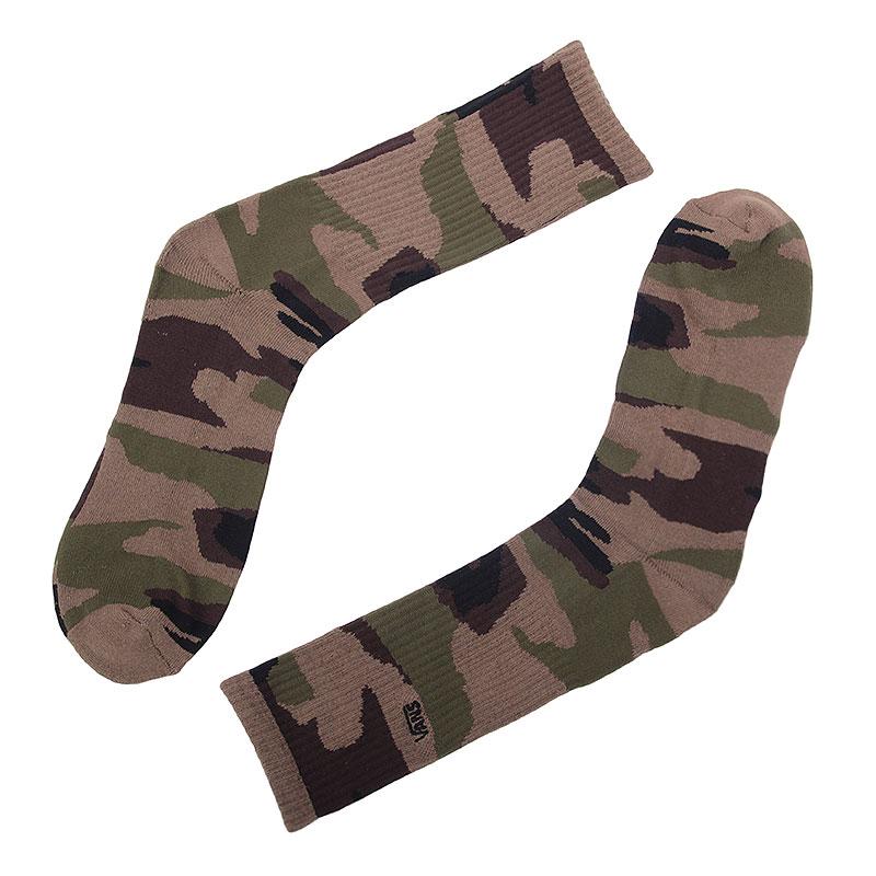 Носки Vans Camo SocksНоски<br>хлопок, эластан, нейлон.<br><br>Цвет: камуфляж.<br>Размеры US: OS<br>Пол: Мужской