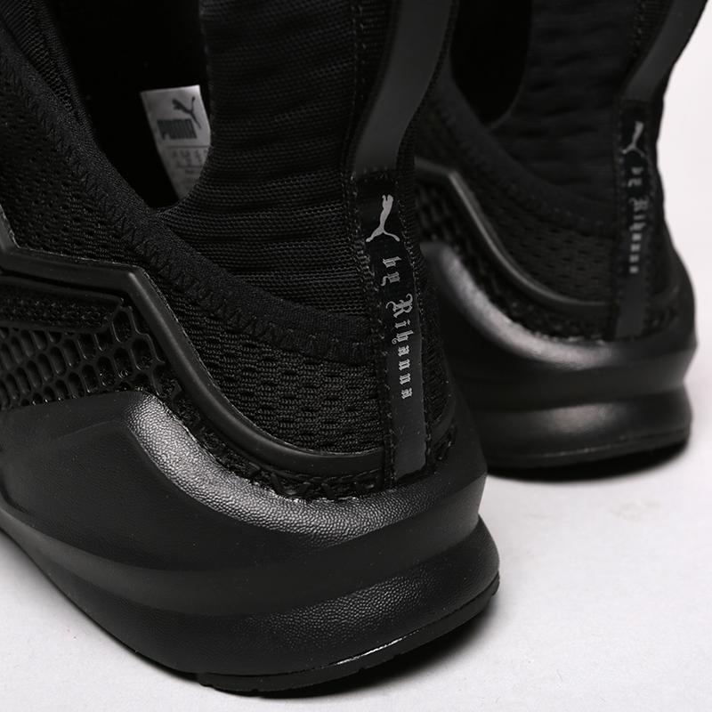 женские чёрные.  кроссовки puma fenty trainer 18919301 - цена, описание, фото 6