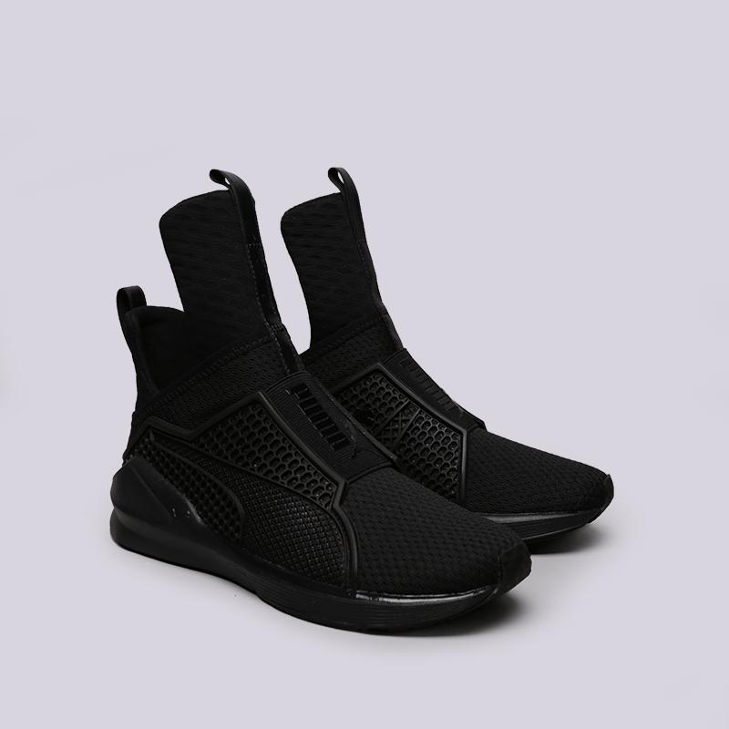 женские чёрные.  кроссовки puma fenty trainer 18919301 - цена, описание, фото 3