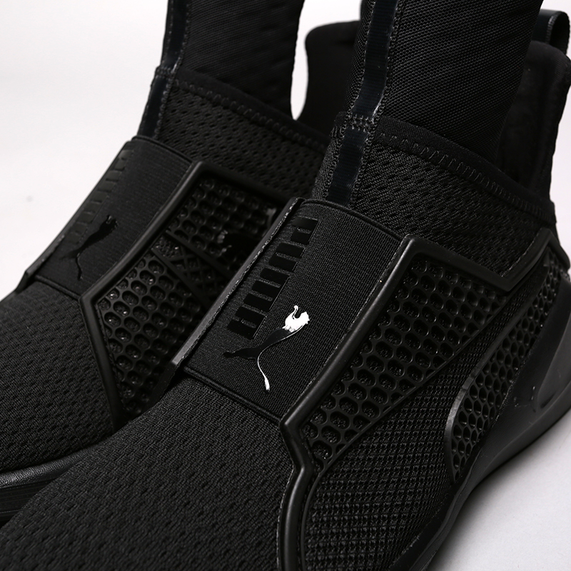 женские чёрные.  кроссовки puma fenty trainer 18919301 - цена, описание, фото 5