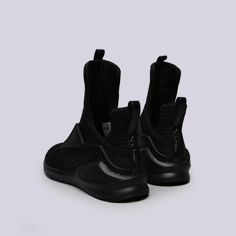 женские чёрные.  кроссовки puma fenty trainer 18919301 - цена, описание, фото 4