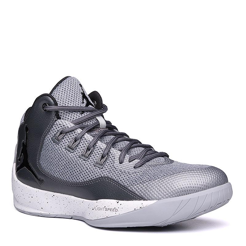 Кроссовки Jordan Rising High 2Кроссовки lifestyle<br>кожа, текстиль, синтетика, резина.<br><br>Цвет: серый.<br>Размеры US: 8;8.5;9;12<br>Пол: Мужской