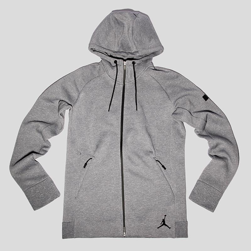 Толстовка Jordan Icon Fleece FZ HoodieТолстовки свитера<br>60% хлопок 40% полиэстер<br><br>Цвет: Серый<br>Размеры US: S;M;L;XL;2XL<br>Пол: Мужской