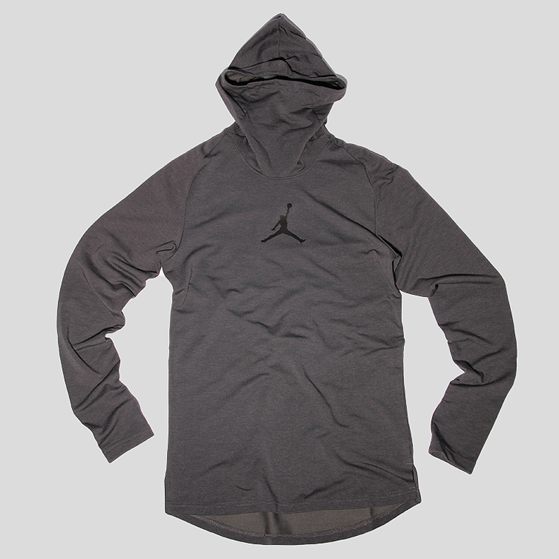 Толстовка Jordan Tech BalaclavaТолстовки свитера<br>84% полиэстер 16% эластан<br><br>Цвет: Серый<br>Размеры US: S;M;L;XL;2XL<br>Пол: Мужской