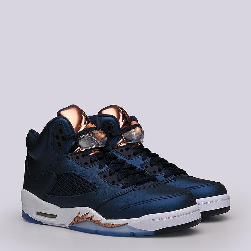 Кроссовки Air Jordan V Retro BGКроссовки lifestyle<br>кожа, пластик, текстиль, резина.<br><br>Цвет: синий.<br>Размеры US: 3.5Y<br>Пол: Женский