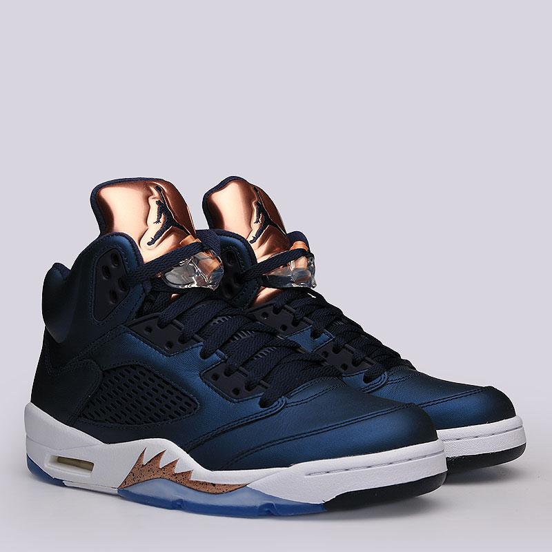Кроссовки Air Jordan V RetroКроссовки lifestyle<br>кожа, пластик, текстиль, резина.<br><br>Цвет: синий.<br>Размеры US: 7;10<br>Пол: Мужской
