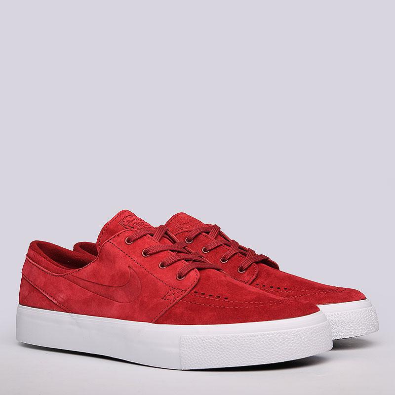 Кроссовки Nike SB Zoom Stefan Janoski PrmКроссовки lifestyle<br>Нубук, резина<br><br>Цвет: Красный<br>Размеры US: 8.5;9;9.5;11;11.5;12;14<br>Пол: Мужской