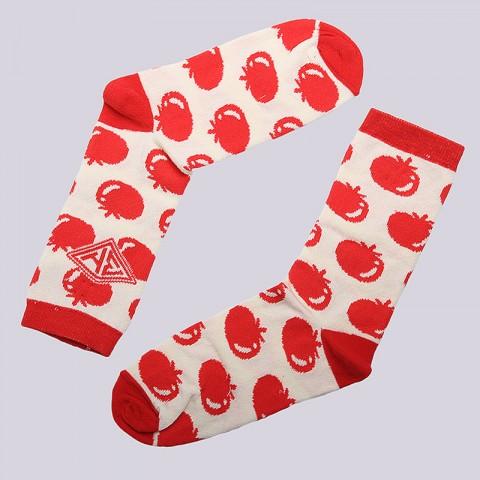 женские красные, белые.  носки запорожец heritage помидоры WПомидоры-бел/крс - цена, описание, фото 1
