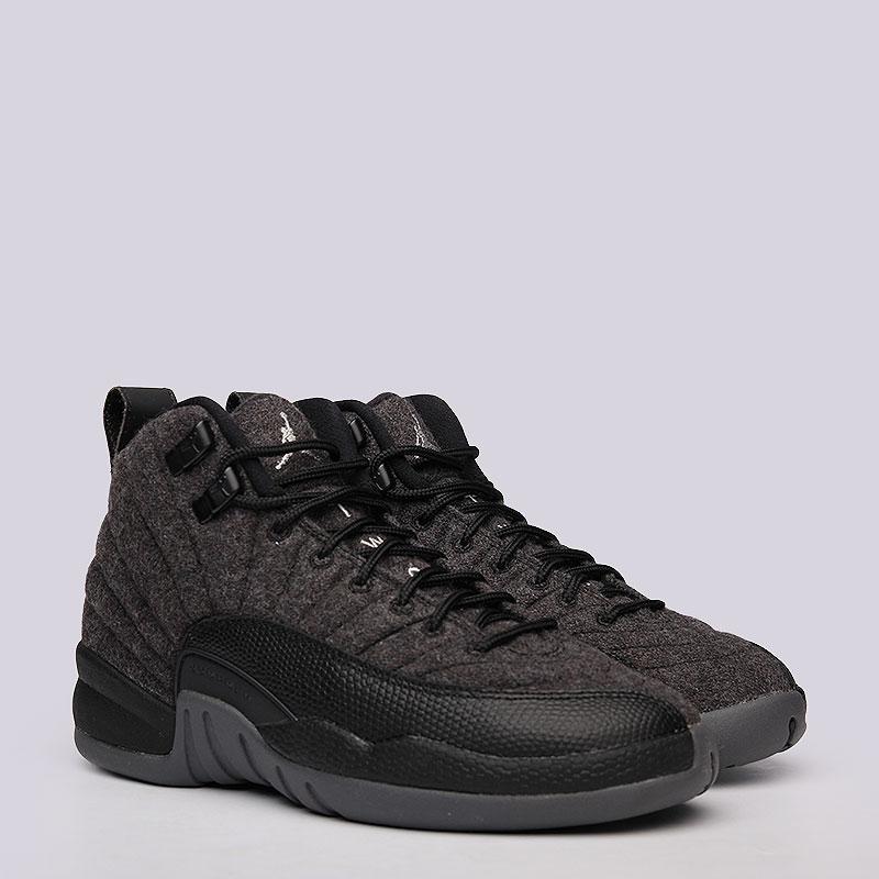 Кроссовки Air Jordan XII Retro Wool BGКроссовки lifestyle<br>Кожа, текстиль, резина<br><br>Цвет: Черный<br>Размеры US: 4.5Y;4Y;5Y;6.5Y;6Y<br>Пол: Женский