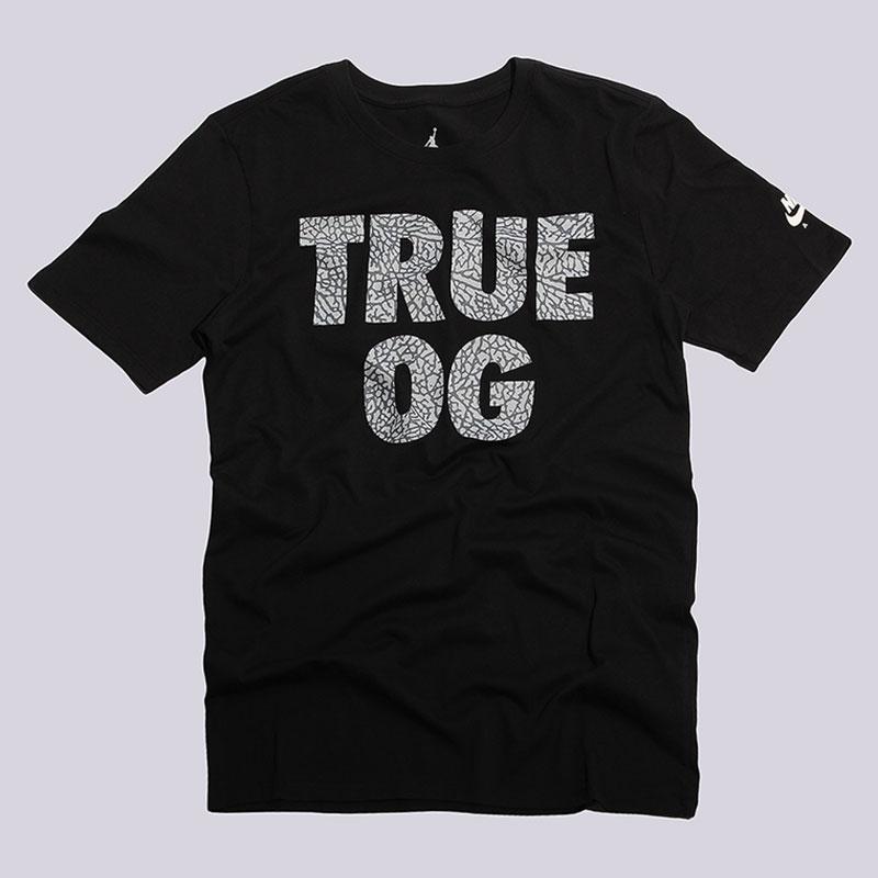 Футболка Jordan True OG TeeФутболки<br>100% хлопок<br><br>Цвет: Черный<br>Размеры US: S<br>Пол: Мужской