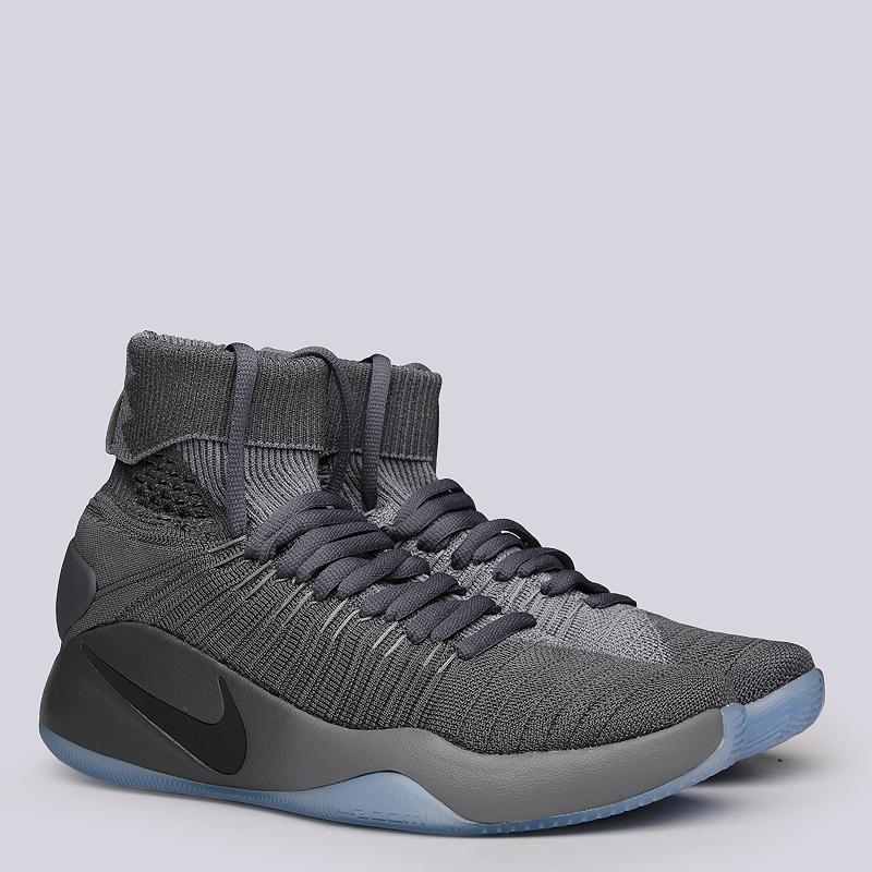 Кроссовки Nike Hyperdunk 2016 FKКроссовки баскетбольные<br>Текстиль, резина<br><br>Цвет: Серый<br>Размеры US: 7.5;8;8.5;9;9.5;10;10.5;11;12;12.5;13;14;15<br>Пол: Мужской