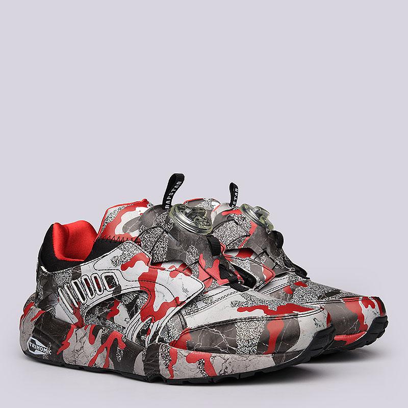 мужские черные, красные, серые кроссовки puma disс blaze camo x trapstar  36164701 - цена 051a77ef00b