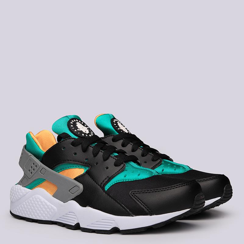 Кроссовки Nike Sportswear Air HuaracheКроссовки lifestyle<br>Текстиль, синтетика, резина<br><br>Цвет: Черный, зелёный, желтый<br>Размеры US: 7.5;8;8.5;9;9.5;10;10.5;11;11.5;12;12.5<br>Пол: Мужской