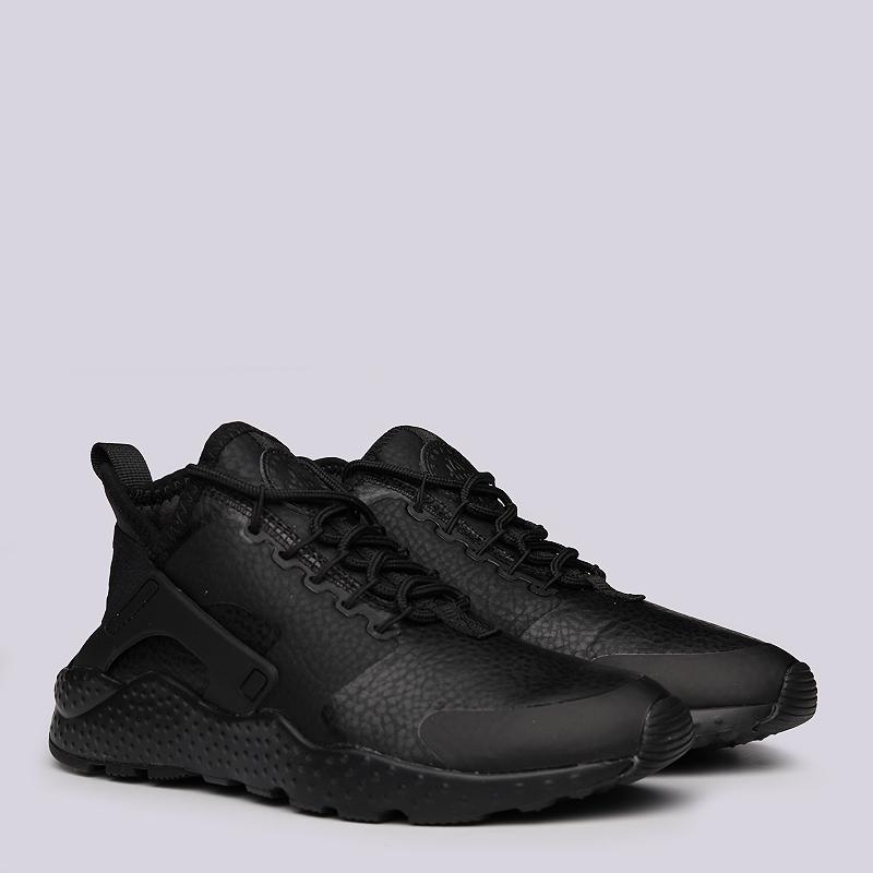 Кроссовки Nike WMNS Air Huarache Run Ultra PRMКроссовки lifestyle<br>Текстиль, резина<br><br>Цвет: Черный<br>Размеры US: 5.5;6<br>Пол: Женский