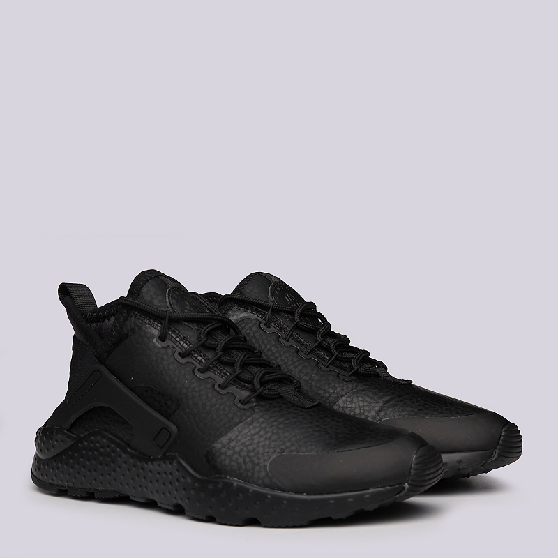 женские черные  кроссовки nike wmns air huarache run ultra prm 859511-002 - цена, описание, фото 1