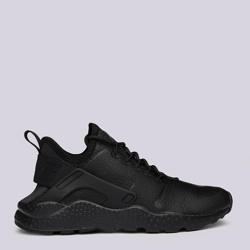 женские черные  кроссовки nike wmns air huarache run ultra prm 859511-002 - цена, описание, фото 2