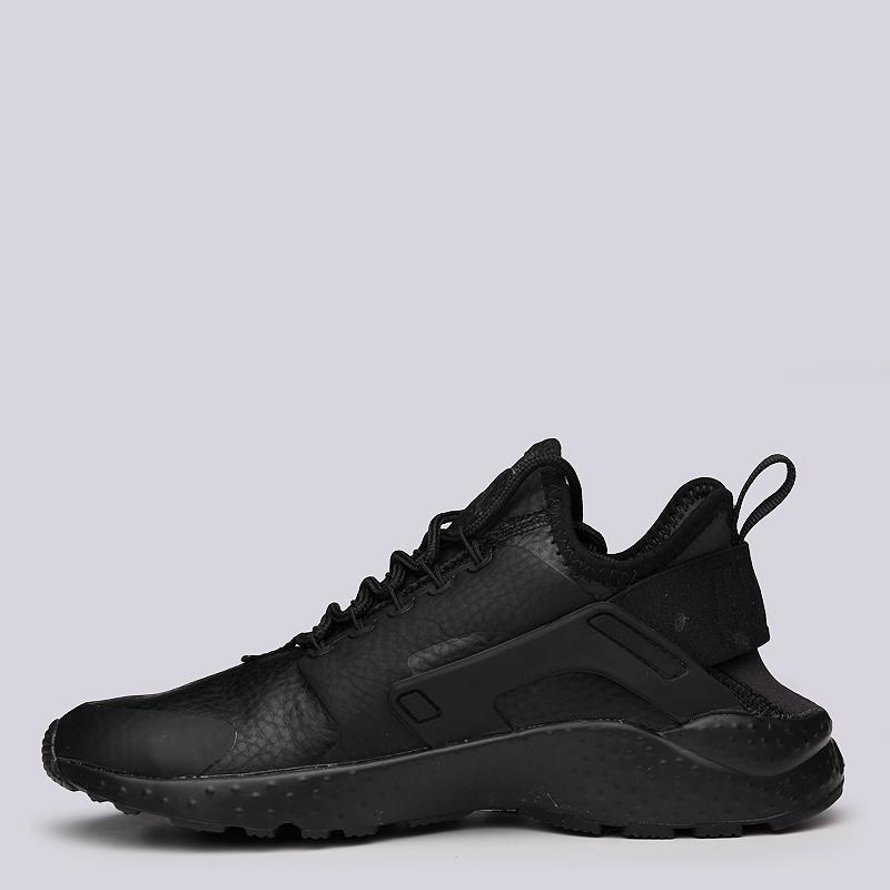женские черные  кроссовки nike wmns air huarache run ultra prm 859511-002 - цена, описание, фото 5