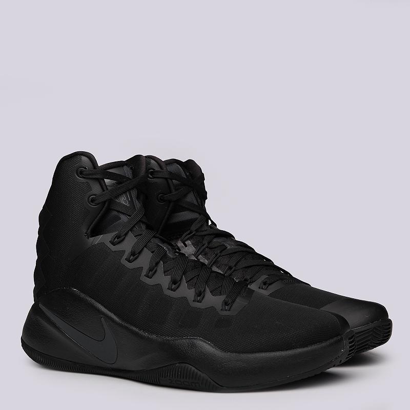 Кроссовки Nike Hyperdunk 2016Кроссовки баскетбольные<br>Текстиль, резина<br><br>Цвет: Черный<br>Размеры US: 8;8.5;9;9.5;15<br>Пол: Мужской