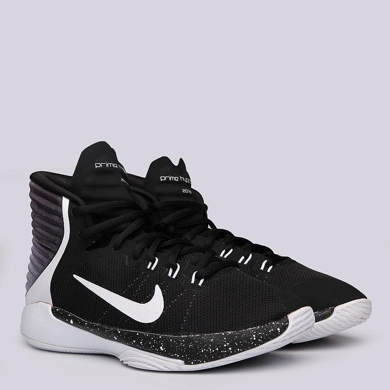 Кроссовки Nike Prime Hype DF GS 2016Кроссовки баскетбольные<br>Текстиль, пластик, резина<br><br>Цвет: Черный, белый<br>Размеры US: 4Y<br>Пол: Детский