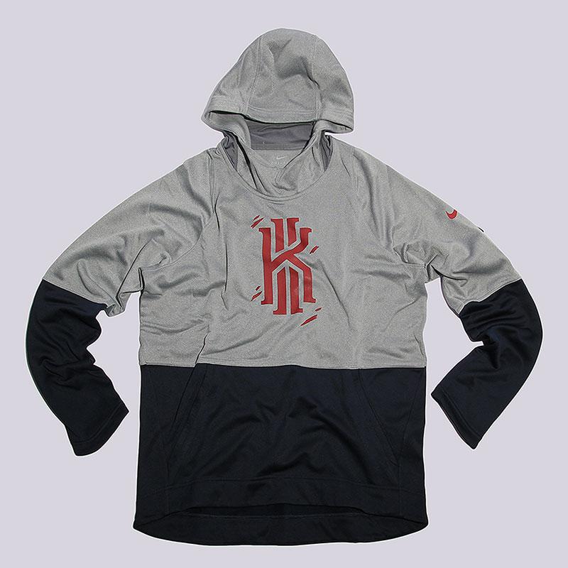 Толстовка Nike sportswear Kyrie M Elite PO HoodieФутболки<br>100% полиэстер<br><br>Цвет: Серый, черный<br>Размеры US: S;M;L;XL;2XL<br>Пол: Мужской