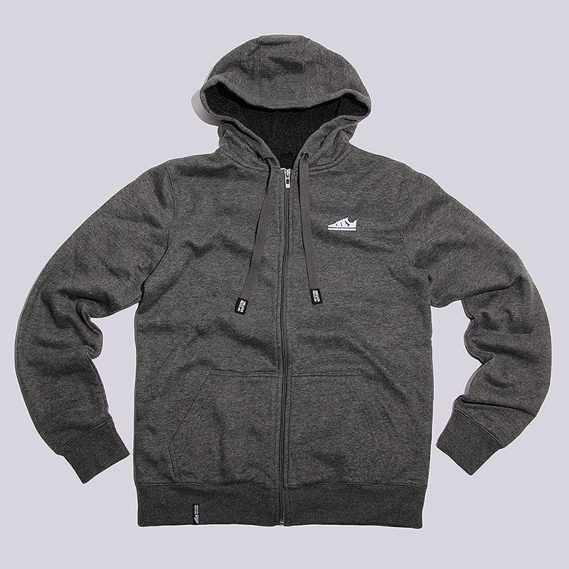 Толстовка Sneakerhead Logo Zip HoodyТолстовки свитера<br>Хлопок, полиэстер<br><br>Цвет: Серый<br>Размеры : L;2XL<br>Пол: Мужской