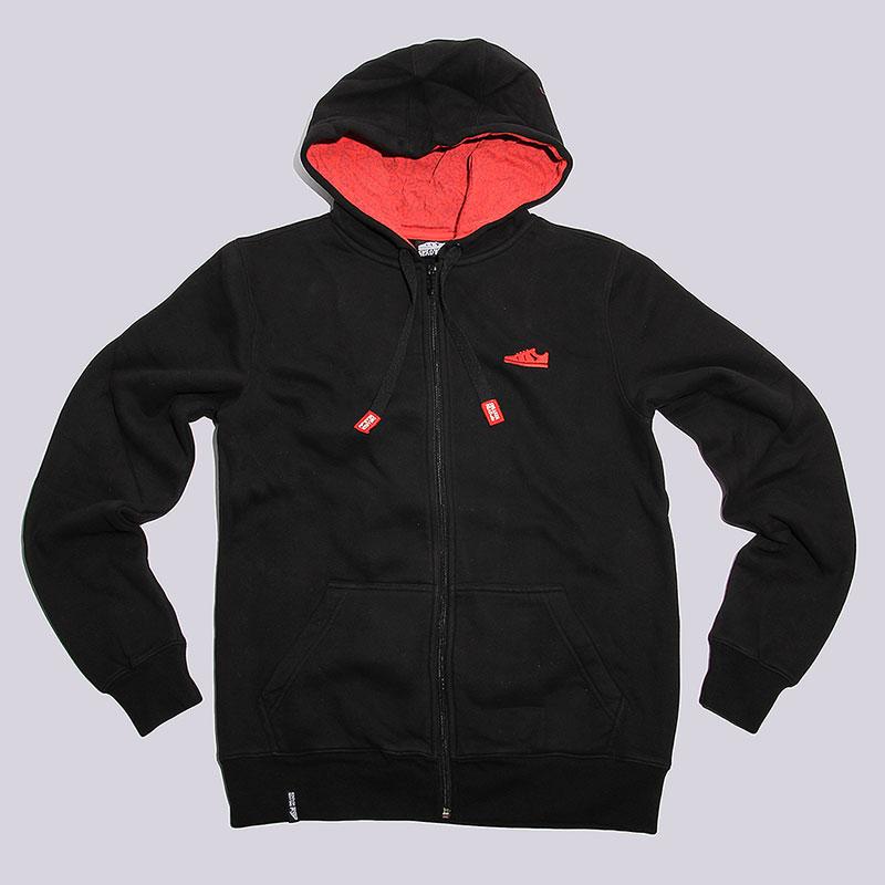 Толстовка Sneakerhead Logo Zip HoodyТолстовки свитера<br>Хлопок, полиэстер<br><br>Цвет: Черный<br>Размеры : S;L;2XL<br>Пол: Мужской