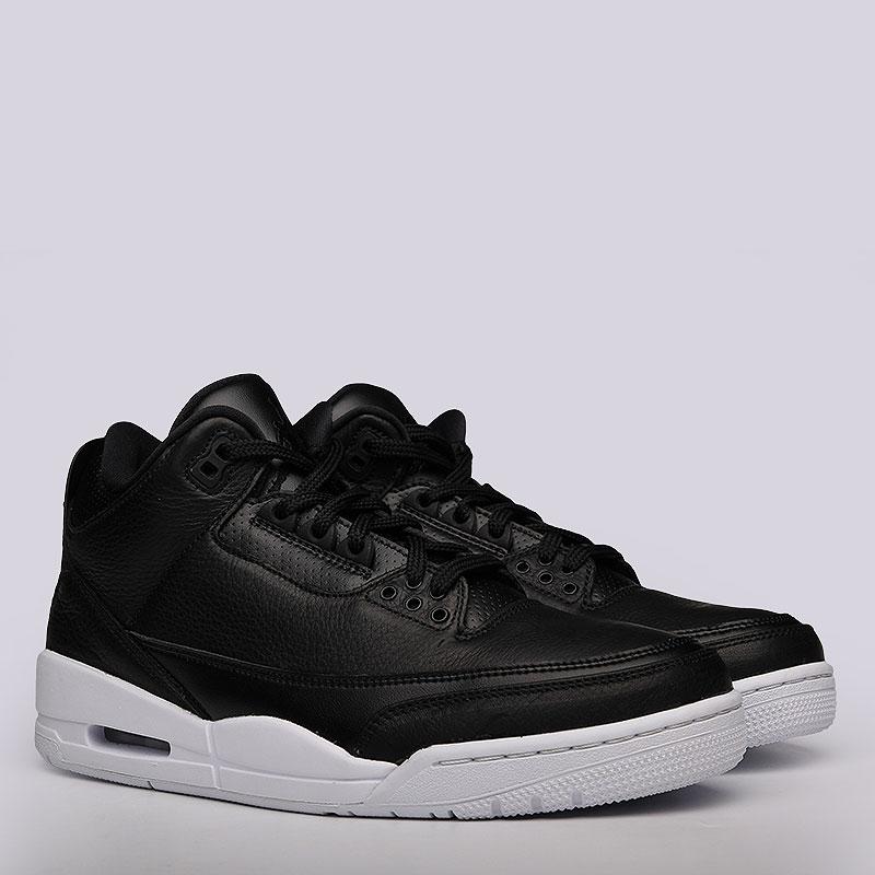 Кроссовки Air Jordan III RetroКроссовки lifestyle<br>Кожа, текстиль, резина<br><br>Цвет: Черный<br>Размеры US: 13<br>Пол: Мужской