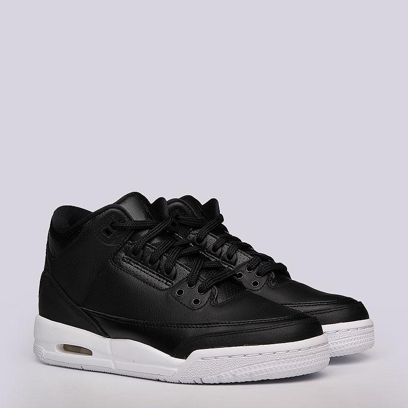 Кроссовки Air Jordan III Retro BGКроссовки lifestyle<br>Кожа, текстиль, резина<br><br>Цвет: Черный<br>Размеры US: 3.5Y<br>Пол: Женский