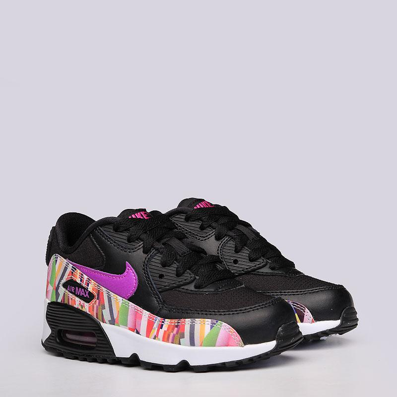 Кроссовки Nike Sportswear Air Max 90 Print Mesh PSКроссовки lifestyle<br>Кожа, текстиль, резина<br><br>Цвет: Черный<br>Размеры US: 11C;11.5C;12C;12.5C;13C;13.5C;1Y;1.5Y;2Y;2.5Y;3Y<br>Пол: Детский
