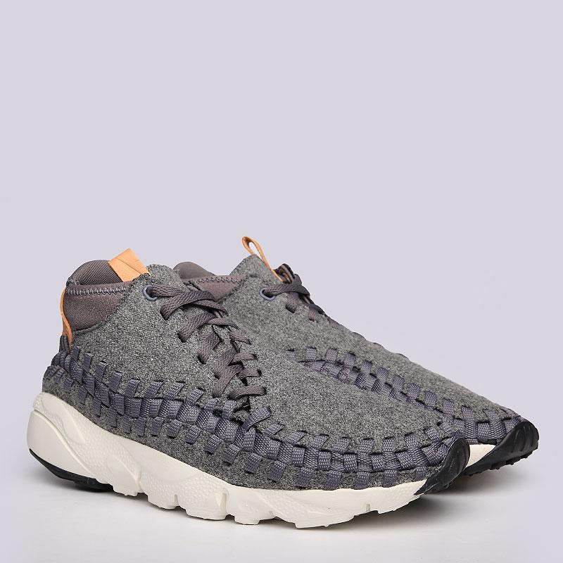 Кроссовки Nike Sportswear Air Footscape Woven Chukka SEКроссовки lifestyle<br>Текстиль, кожа, резина<br><br>Цвет: Серый<br>Размеры US: 11;8;8.5<br>Пол: Мужской