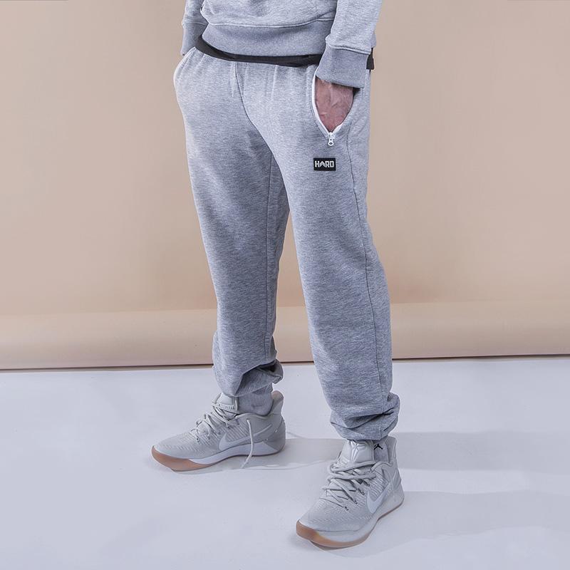 Брюки Hard 15HrdБрюки и джинсы<br><br><br>Цвет: Серый<br>Размеры : M<br>Пол: Мужской
