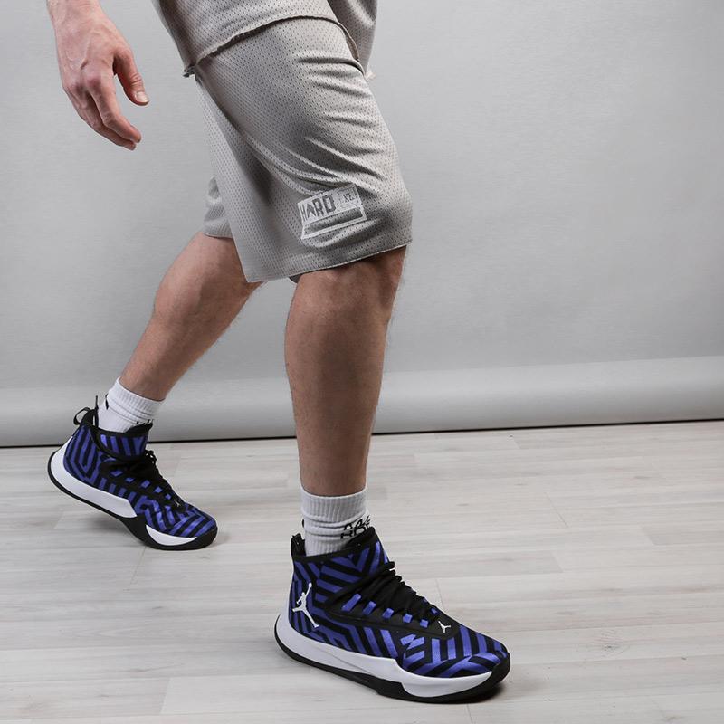 мужские серые, голубые  шорты hard hrd shorts Hard grey/blue-074 - цена, описание, фото 2